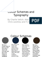colour schemes and typography