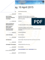ESFLC15 Schedule