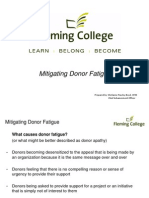 Mitigating Donor Fatigue