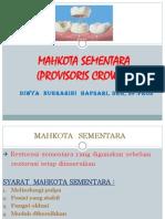 MAHKOTA SEMENTARA