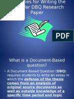 dbq writing strategies for civl war project