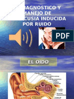 Diagnostico y Manejo de Hipoacusia Inducida Por Ruido