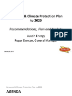 Resource & Climate Protection Plan To 2020 Recommendations, Plan and Update
