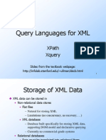Lecture 17 XML and XPATH and XQUERY
