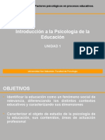 Unidad I_Introduccion a La Psicologia Educacional
