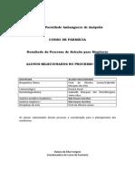 Resultado Selação Monitores Farmácia 2015_01