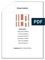 Ocean Carriers Reports_Final case solution