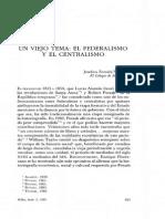 VAZQUEZ, Josefina - Un Viejo Tema, El Federalismo y El Centralismo en Mx.