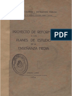 Reforma Curricular Media 1935