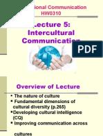 Lecture 5 Intercultural Comm HO