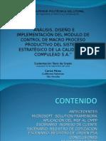 """""""Análisis, Diseño e Implementación Del Módulo de Control de Macro Proceso Productivo-presentacion Tesis"""