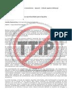 Malmströmen España explicando el TTIP en el Foro Nueva Economia