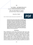 Chand (2001) Ch 14 Capitalsim, Democracy and Discrimination