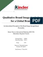 Qualitative Brand Image Analysis for a Global Brand