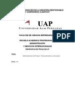 Administracion Del Pasivo, Financiamiento a Corto Plazo