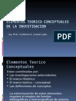 Clase 05 Elementos Teorico-conceptuales de La Investigacion