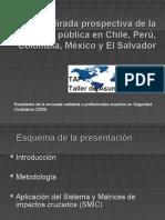 Mirada prospectiva de la seguridad pública en Chile, Perú, Colombia, México y El Salvador