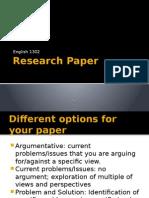 research paper beginning