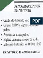 Requisitos para inscribir a un recién nacido