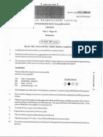 Cape Physics Unit 1 2007 Paper 1