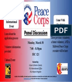 Final Peace Corps Panel Discussion Flyer