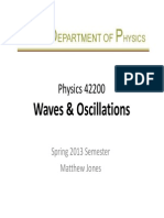 wave and oscillation
