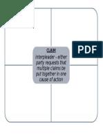 Joinder Chart for Civil Procedure