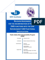 Revision Assessment for the Incorporation of Fire and EMS Functions into the Law Enforcement CAD Functional Specifications
