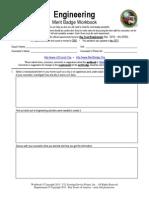 Engineering Merit Badge Worksheet