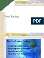 Green Sayings