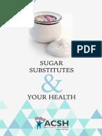 Sugar Substitutes & Your Health