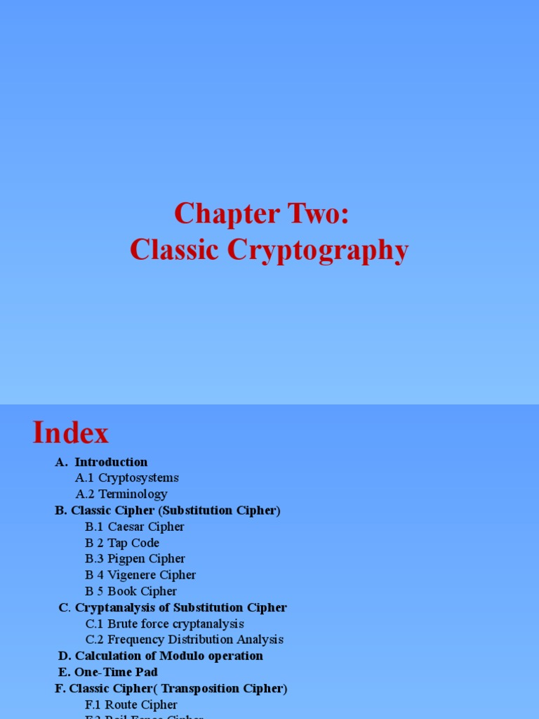 Chapter-2 | Cipher | Cryptography