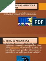 2.2 Tipos de Aprendizaje