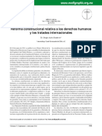 Reforma Constitucional Relativa a Los Derechos Humanos