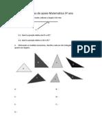 Fichas de Apoio Matemática 5º Ano Triangulos e Angulos