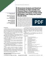 Condensation & Evaporation Processes  In Micropipes