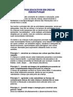 PRINCÍPIOS EDUCATIVOS EM CRECHE