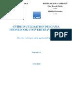 Guide Utilisateur de Kiama Phonebook Converter