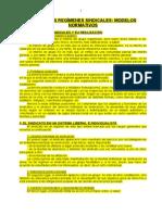 09. Los Regímenes Sindicales, Modelos Normativos
