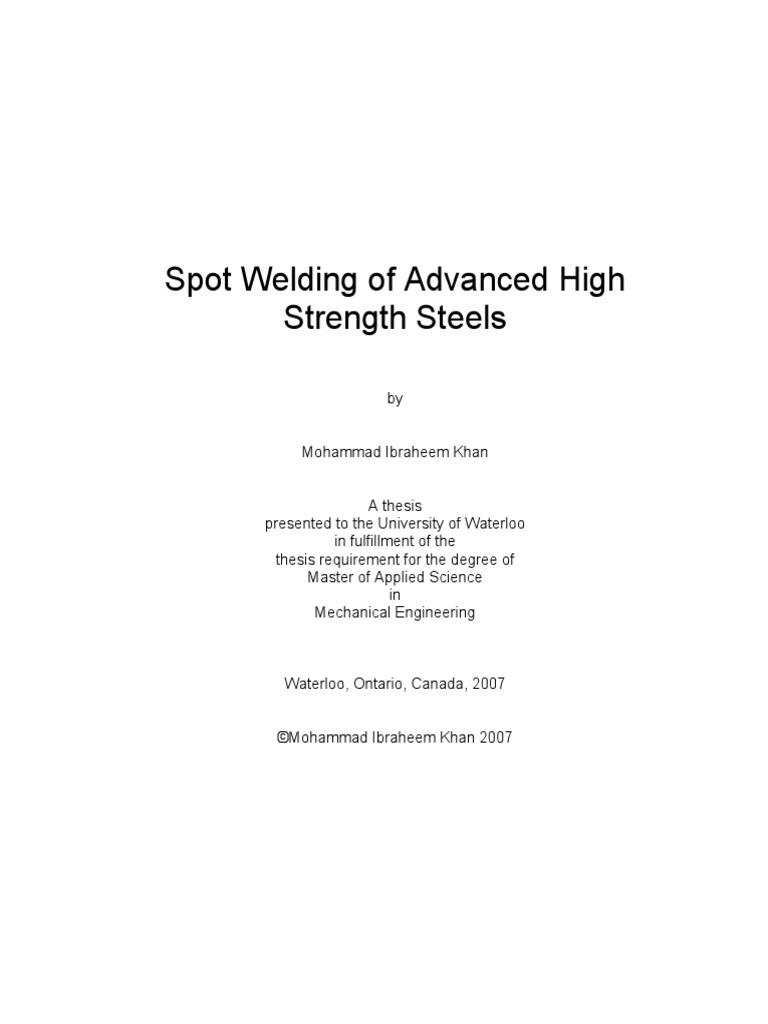 Spot Welding Of Advance High Strength Steelspdf Steel Lobe Diagram