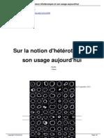 Sur La Notion d Hetrotopie
