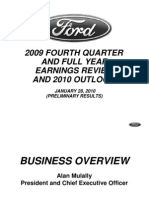 Ford Post Full-Year Net Income of $2.7 Billion