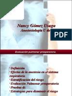 Evaluacion postoperatoria Neumologica