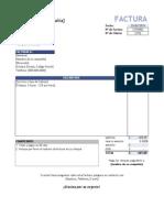 Factura Examen  Excel