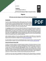 UNDP Human Development Report 2014 (Nigeria)