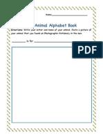 Digital Citizen-Animal Alphabet Book