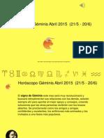 Horoscopo Geminis Para Abril 2015