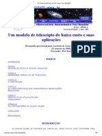 Um Modelo de Telescópio de Baixo Custo e Suas Aplicações