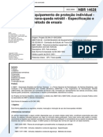 Abnt - Nbr 14628 - Equipamento de Protecao Individual - Trava-queda Retratil - Especificacao E Metodo de Ensaio