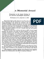 Lewin Award Introduction 1958